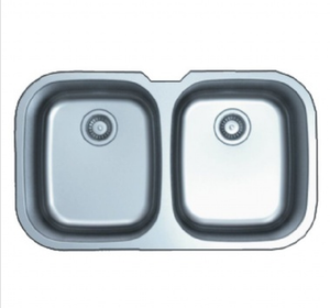 Buy Large Double Bowl Kitchen Sink (Even Bowl) - Zen Tap Sinks - 1