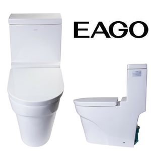 EAGO TB326 Modern One Piece Ultra Low Flow Eco Friendly White Toilet