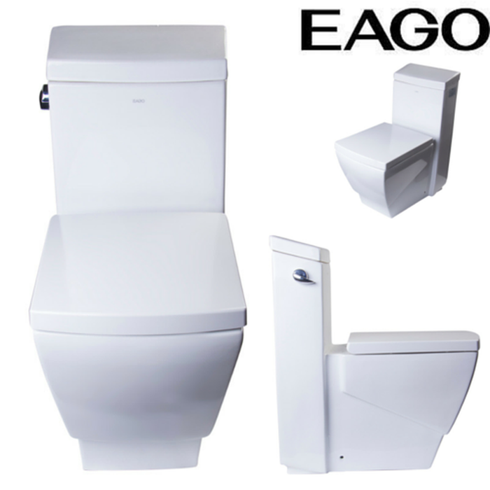 EAGO TB336 Modern One Piece High Efficiency Low Flush Eco Friendly Toilet