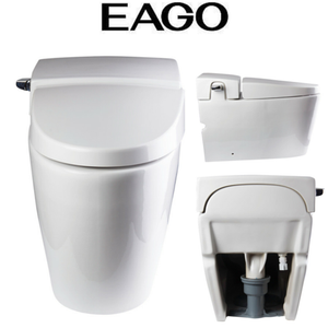 EAGO TB340 White One Piece Ultra Low Single Flush Eco-Friendly Toilet