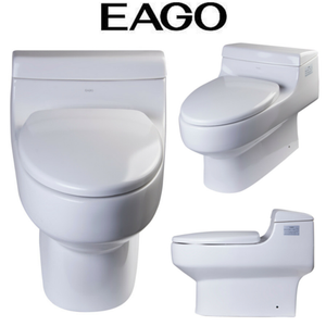 EAGO TB352 White One Piece Ultra Low Single Flush Eco-Friendly White Toilet