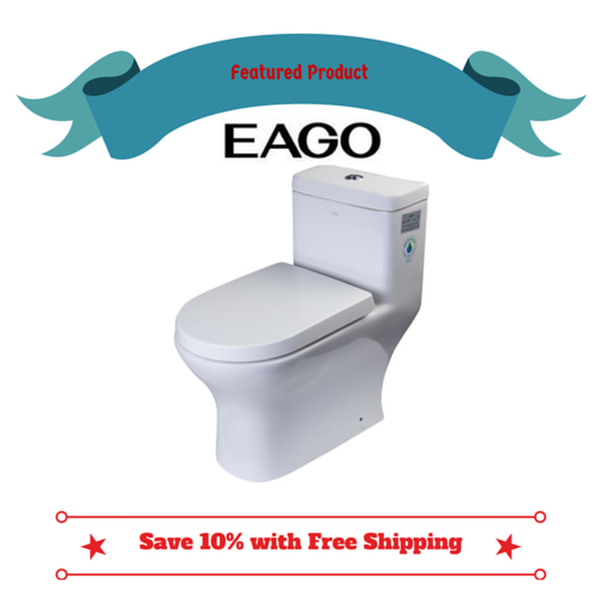 BUY EAGO TB353 One Piece Dual High Efficiency Low Flush Eco-Friendly Toilet - Zen Tap Sinks - 1