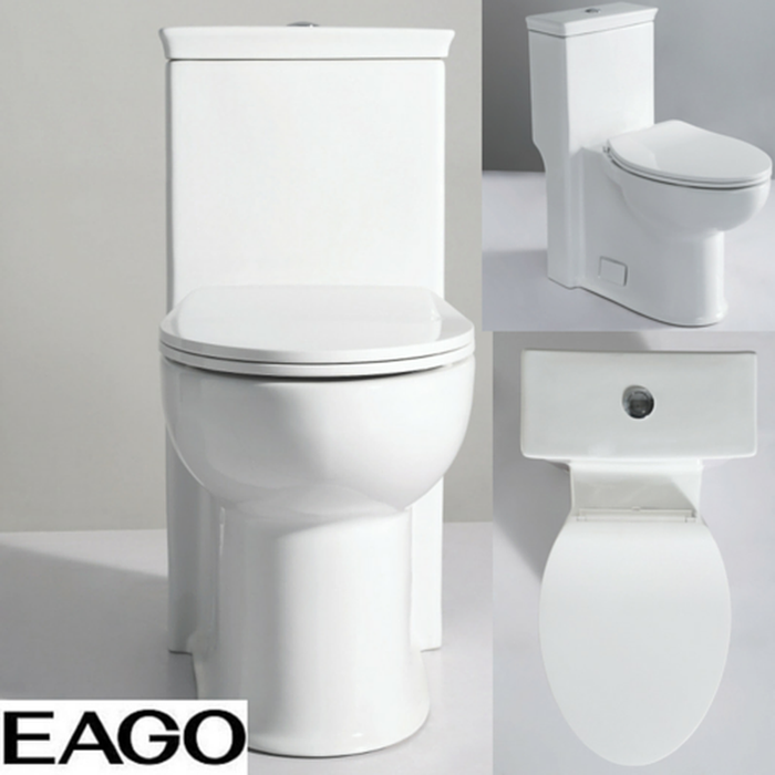 EAGO TB377 ADA Compliant High Efficiency One Piece Single Flush Toilet