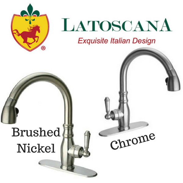 Latoscana Old Fashioned Single Handle Pull-Down Spray Kitchen Faucet