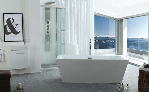 "Serenity 63"" x 29.5"" Freestanding Soaking Bathtub"