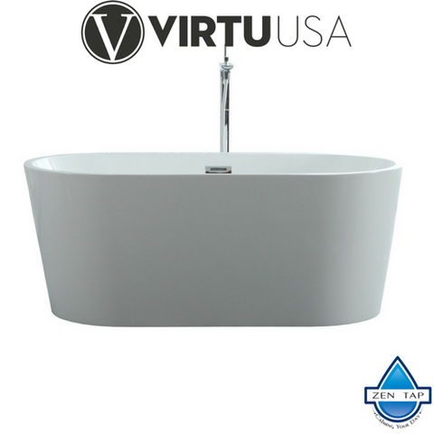 "Serenity 59"" x 29.5"" Freestanding Soaking Bathtub"