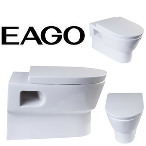 EAGO WD332 Modern Wall Mounted Dual Flush White Ceramic Toilet