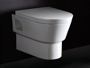 BUY EAGO WD332 Modern Wall Mounted Dual Flush White Ceramic Toilet - Zen Tap Sinks - 7