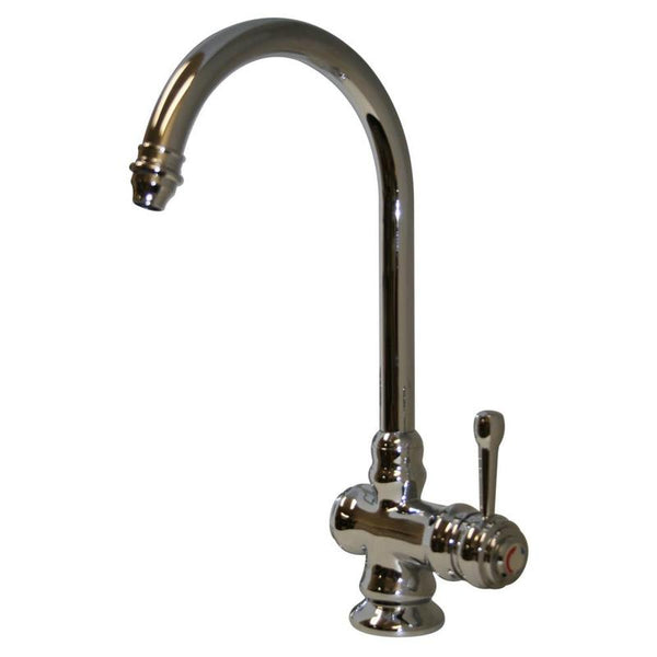 Whitehaus WH17606 Deck Mount Single Hole Goose Neck Single Lever Mixer