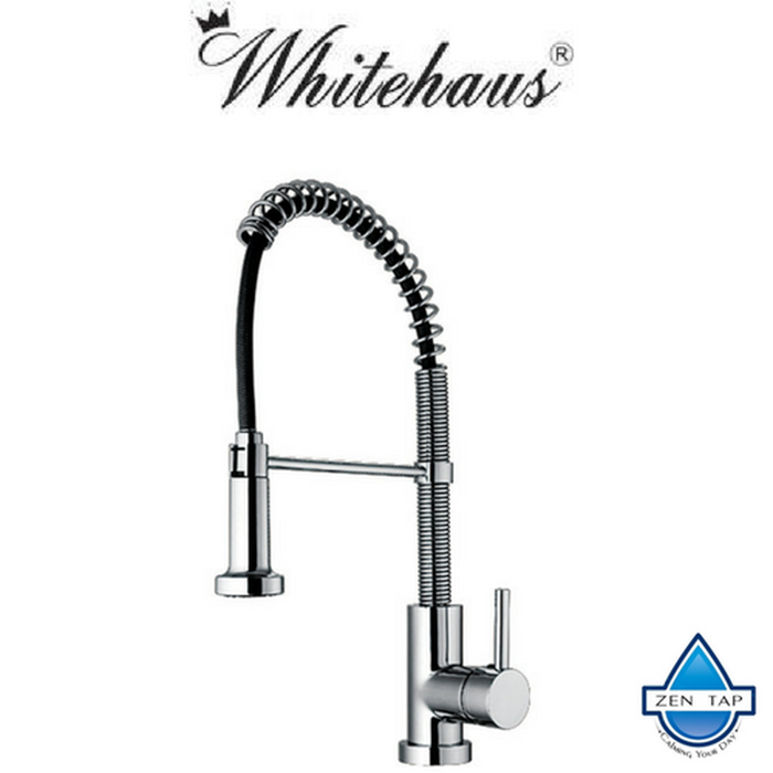 Whitehaus WH2070079 Commercial Kitchen Faucet With Flexible Spout