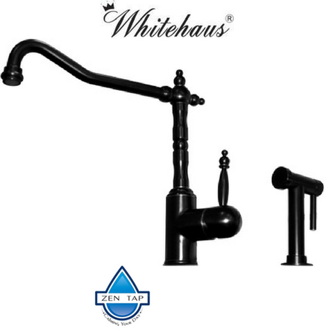 Whitehaus WH2070800 Kitchen Faucet With Traditional Swivel Spout