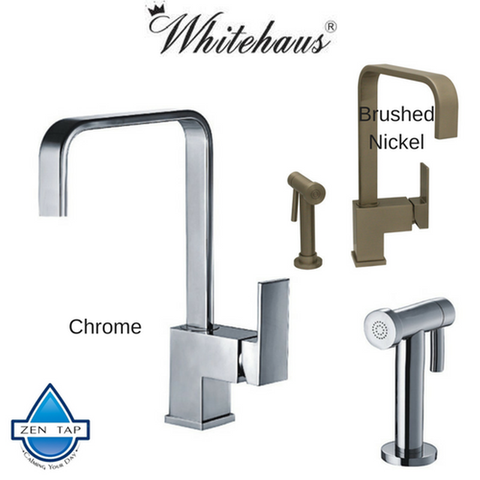 Whitehaus WH2070824 Single Handle Faucet With Side Spray