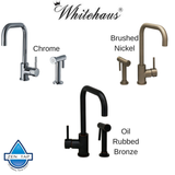 Whitehaus WH2070826 Kitchen Faucet With Solid Brass Side Spray