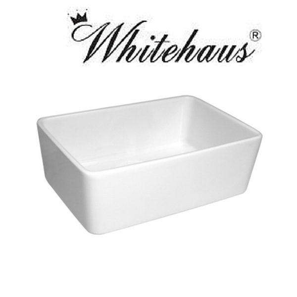BUY Whitehaus WHB5033 Single Bowl Fireclay Sink With A Smooth Front Apron