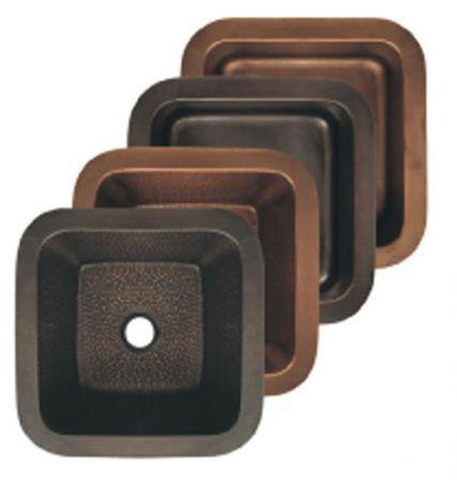 Buy Online Whitehaus WHCOLV1414 Copperhaus Square Drop-In / Undermount Copper Basin - Zen Tap Sinks