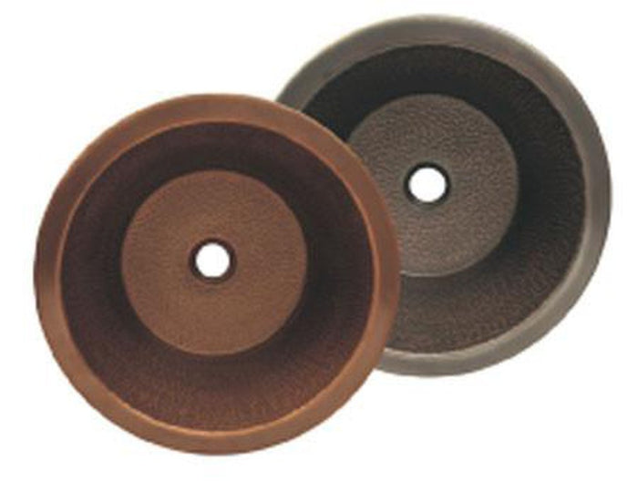 Buy Online Whitehaus WHCOLV175D Copperhaus Round Drop-In / Undermount Copper Basin - Zen Tap Sinks