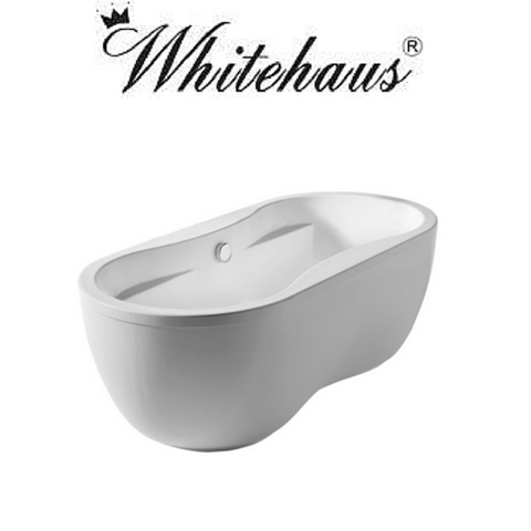 Buy Online Whitehaus WHDB170BATH Oval Double Ended Dual Armrest Freestanding Bathtub