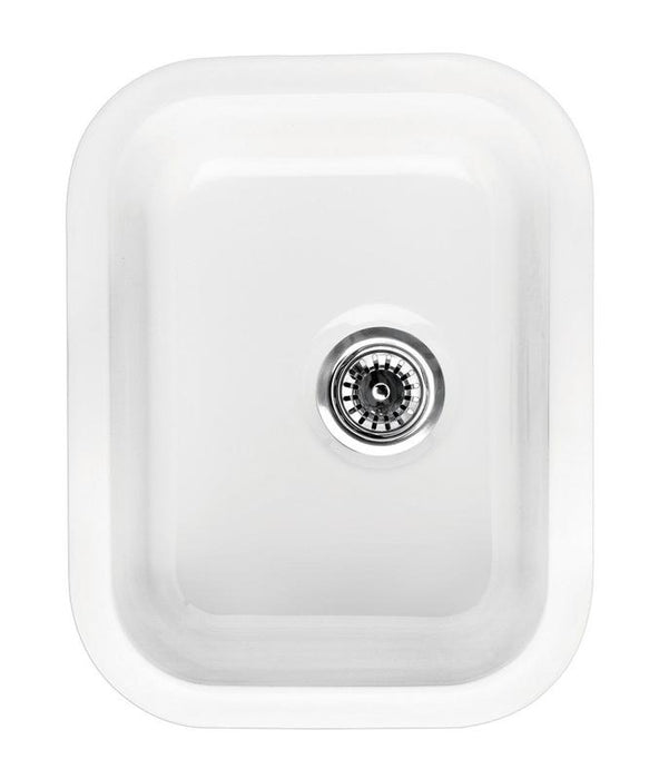 BUY Whitehaus WHE1418 Rectangular Single Bowl Fireclay Sink - Zen Tap Sinks