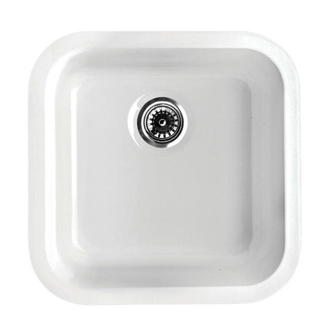 BUY Whitehaus WHE1818SQ Square Single Bowl Fireclay Sink - Zen Tap Sinks