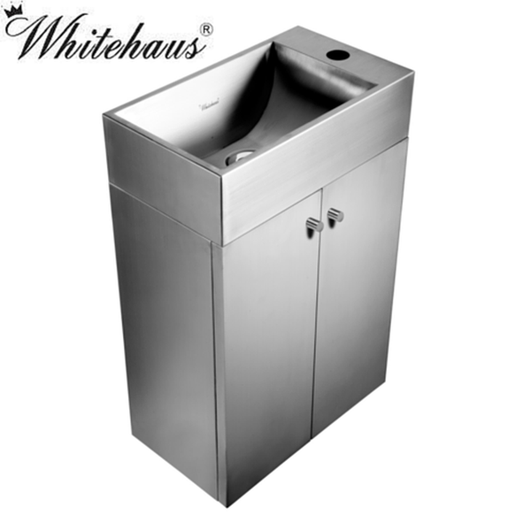 Buy Whitehaus WHE213BTSS Wall Hung Stainless Steel Vanity