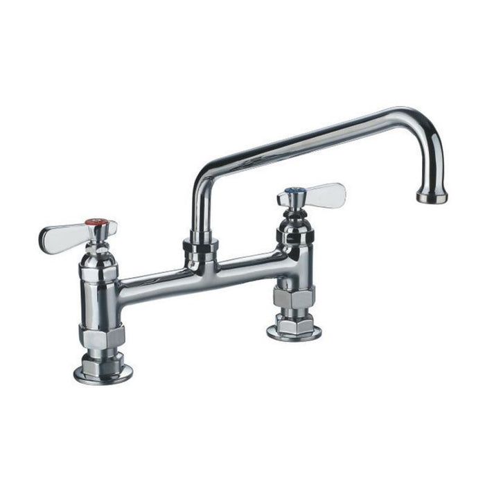 Whitehaus WHFS9813-12-C Heavy Duty Utility Bridge Faucet with Lever Handles