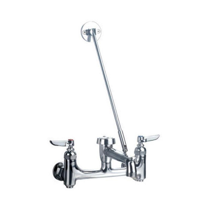 BUY Whitehaus WHFSB980-C Wall Mount Service Sink Faucet with Support Bracket - Zen Tap Sinks