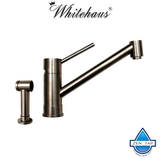 Whitehaus WHFX2125STS Stainless Steel Lever Kitchen Faucet with Side Spray