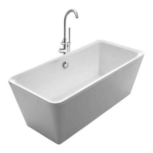 Cubic Freestanding Lucite Bathtub Kit with 41″ Tub Filler