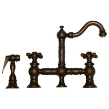 BUY Whitehaus WHKBTCR3-9206 Deck Mount Cross Prep Bridge Faucet with Side Spray - Zen Tap Sinks - 4