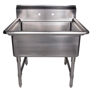 "BUY Whitehaus WHLS3024-NP 30"" Brushed Stainless Steel Freestanding Utility Sink - Zen Tap Sinks"
