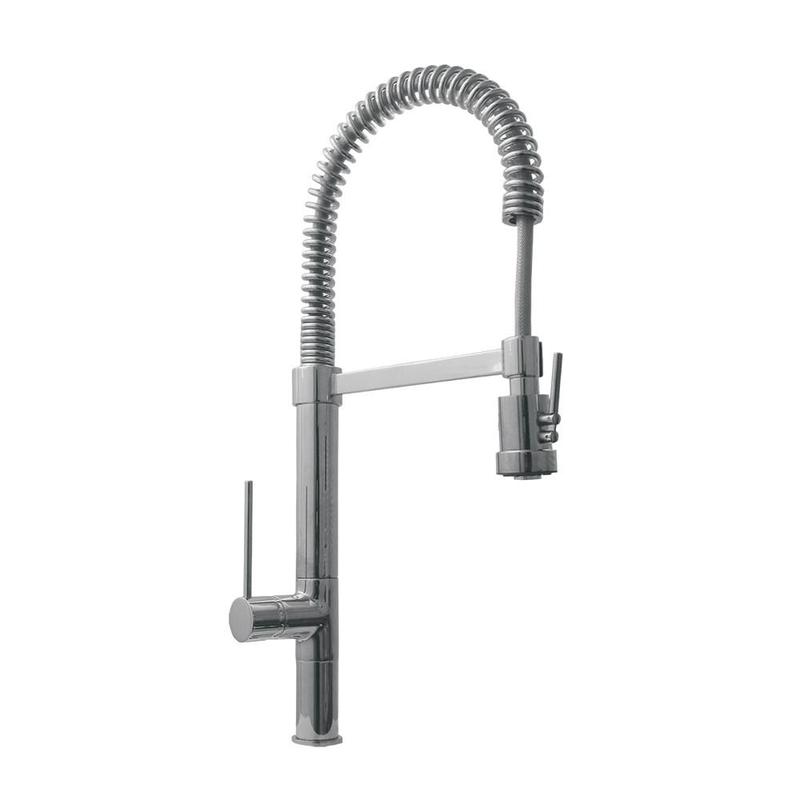BUY ONLINE Whitehaus WHLX78557S 9 1/2″ Metrohaus Commercial Single Hole Faucet - Zen Tap Sinks