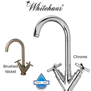 Whitehaus WHLX79572 Swivel Spout Chrome or Brushed Nickel Kitchen Faucet