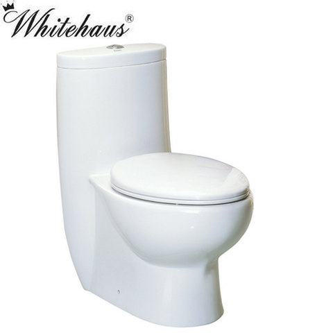 Whitehaus WHMFL3309-EB Magic Dual Flush One Piece Elongated Toilet