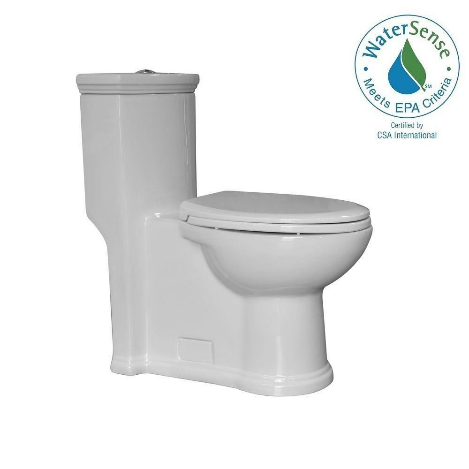 Whitehaus WHMFL3364-EB Magic Flush White One Piece Toilet