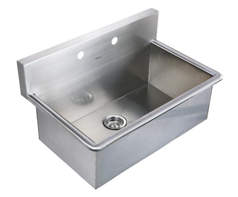 "BUY Whitehaus WHNC3120 31"" Noah Stainless Steel Laundry / Utility Sink - Zen Tap Sinks"