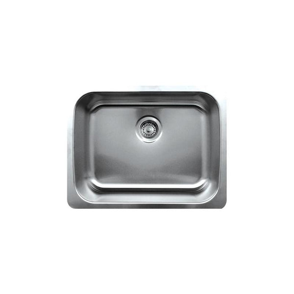 BUY Whitehaus WHNU2318 Stainless Steel 23'' Single Bowl Undermount Kitchen Sink - Zen Tap Sinks