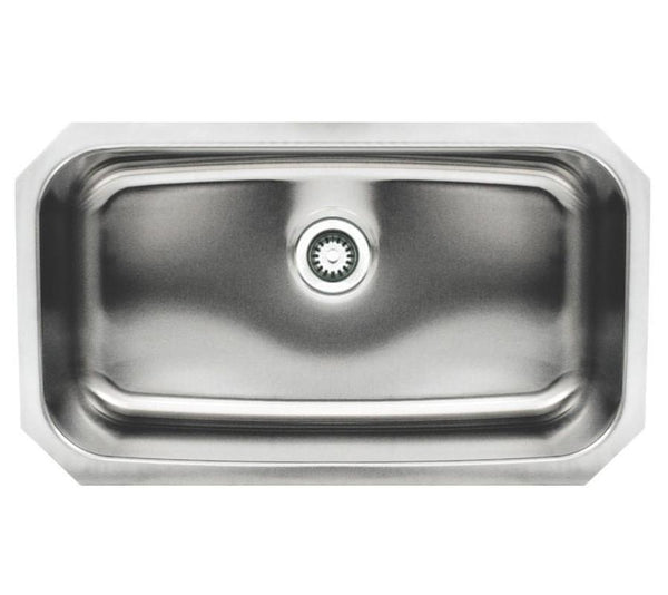 "BUY Whitehaus WHNU2918REC Stainless Steel 30"" Single Undermount Kitchen Sink - Zen Tap Sinks"