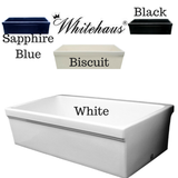Whitehaus WHQ536 Single Bowl Fireclay 36'' Farmhouse Apron Kitchen Sink