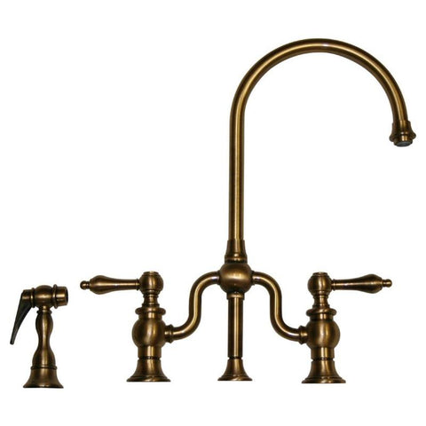 BUY ONLINE Whitehaus WHTTSCR3-9773SPR Widespread Goose Neck Kitchen Faucet - Zen Tap Sinks - 1