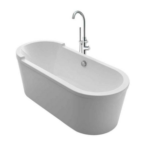 Armrest Freestanding Oval Bathtub Kit with 41″ Tub Filler