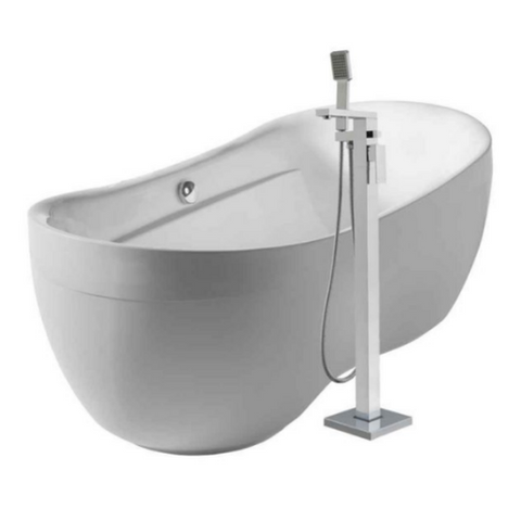 Oval Acrylic Freestanding Bathtub Kit with Tub Filler