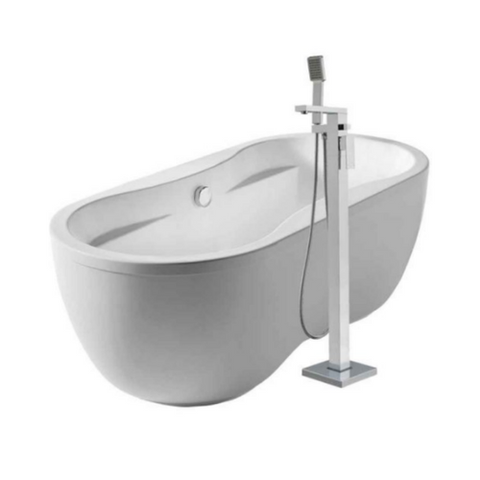 Oval Dual Armrest Double Ended Bathtub Kit with 34″ Single Level Tub Filler
