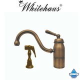 Whitehaus 3-3165-SPR-L Deck Mount Single Handle Faucet With Side Spray