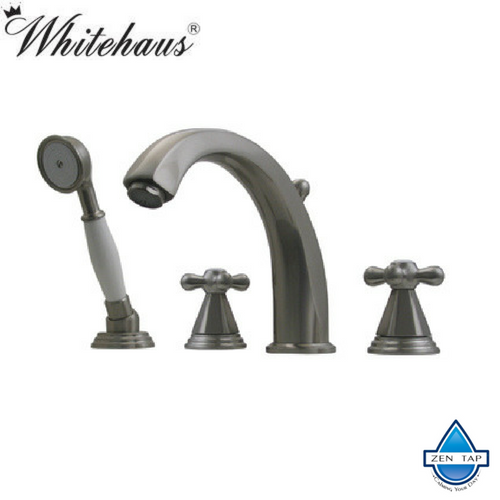 Whitehaus 514.443TF Blairhaus Deck Tub Filler with Hand Held Shower Head