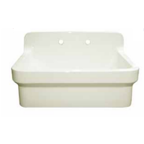 Fireclay Utility Sink with High Backsplash Bundle