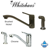 Whitehaus WH76574 Single Lever Straight Kitchen Faucet with Side Spray