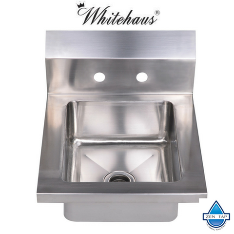 Whitehaus WHHS14 Noah's Collection Small Single Bowl Drop-In Hand Sink