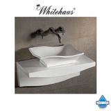 Whitehaus WHKN1078-1116 Ceramic Bathroom Basin with Wall Mount Counter
