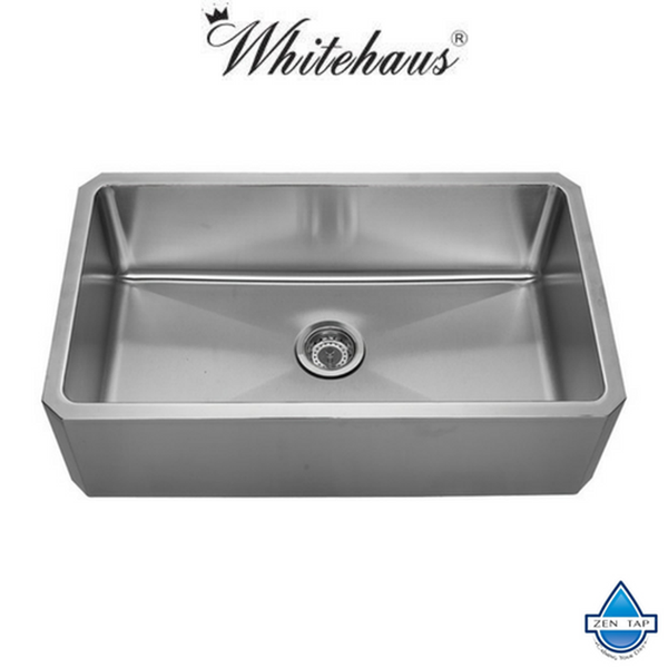 "Whitehaus WHNAP3218 32"" Stainless Steel Apron Undermount Kitchen Sink"