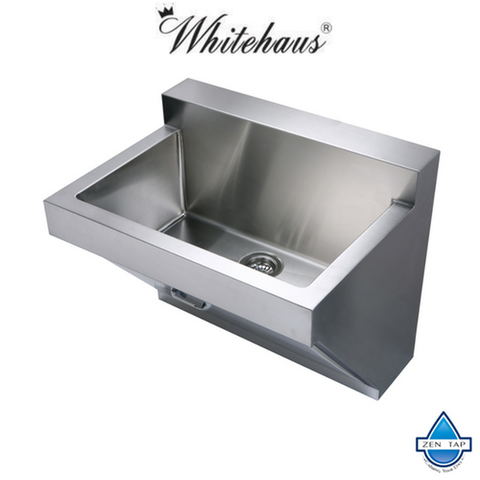 "Whitehaus WHNC3022W 30"" Noah Stainless Steel Laundry / Utility Sink"